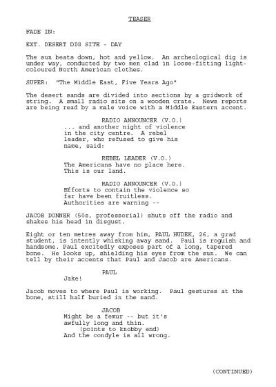 classic screenplay watch tv pilot reading earthfall by robert j