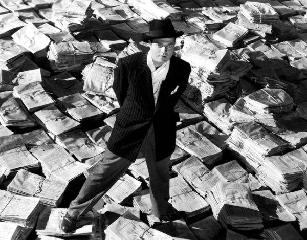 Orson Welles as Randolph Hearst – er, Charles Kane. Image: Senses of Cinema
