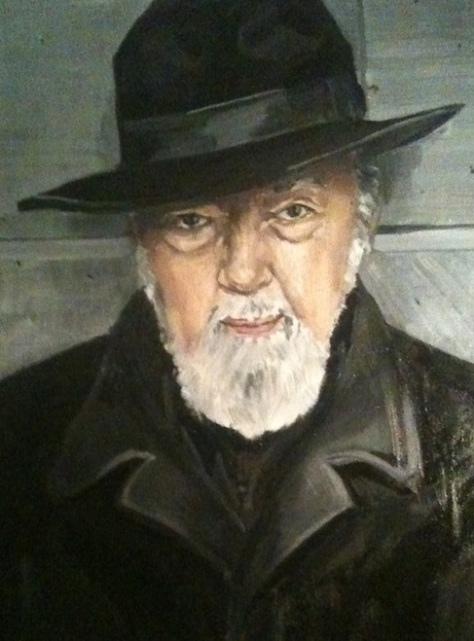 Detail from a portrait of Sir Peter Hall by his daughter Jennifer Caron Hall. [Wikipedia]